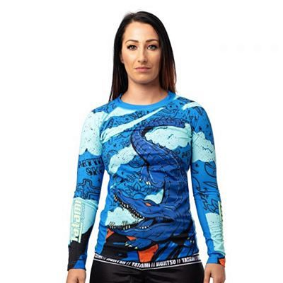 Tatami Ladies Gustave Eco Tech Recycled Rash Guard Blue