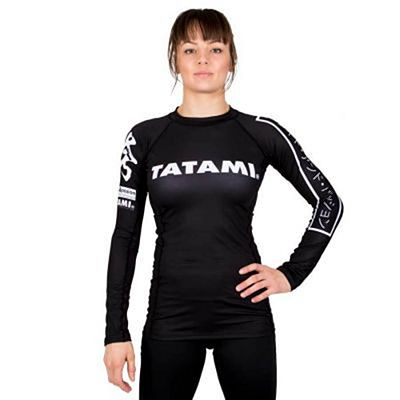 Tatami Ladies Hokori Long Sleeve Rash Guard Preto