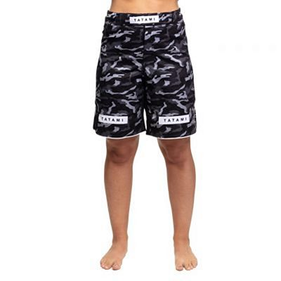 Tatami Ladies Rival Black & Camo Grappling Shorts Musta-Camo