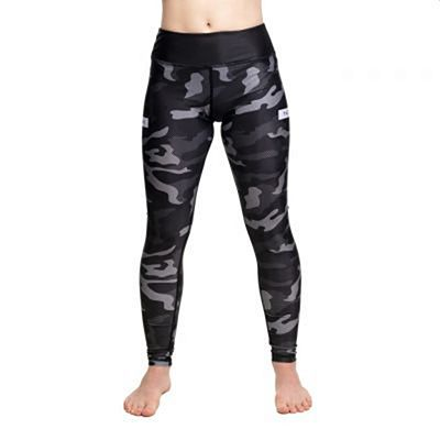 Tatami Ladies Rival Black & Camo Grappling Spats Musta-Camo
