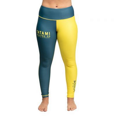Tatami Ladies Supply Co Navy Grappling Legging Tummansininen-Keltainen