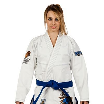 Tatami Ladies Thinker Monkey Jiu Jitsu Bianco