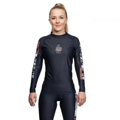 Tatami Ladies Tropic Black LS Rash Guard Musta