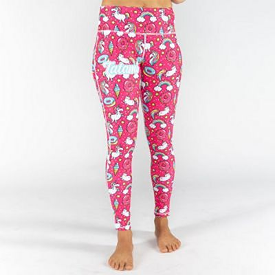 Tatami Ladies Unicorn Print Leggings Rosa