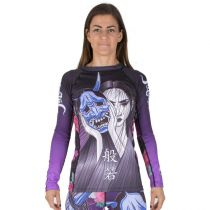 Tatami Ladies Weeping Hannya Rash Guard Negro-Azul