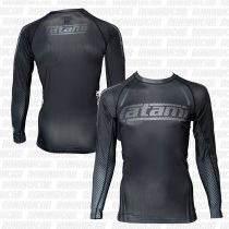 Tatami New IBJJF Rank Long Sleeve Rash Guard Schwarz-Schwarz