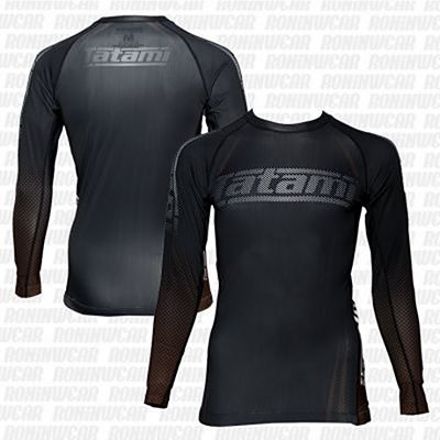 Tatami New IBJJF Rank Long Sleeve Rash Guard Fekete-Barna