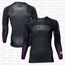 Tatami New IBJJF Rank Long Sleeve Rash Guard Schwarz-Lila