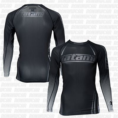 Tatami New IBJJF Rank Long Sleeve Rash Guard Fekete-Fehèr
