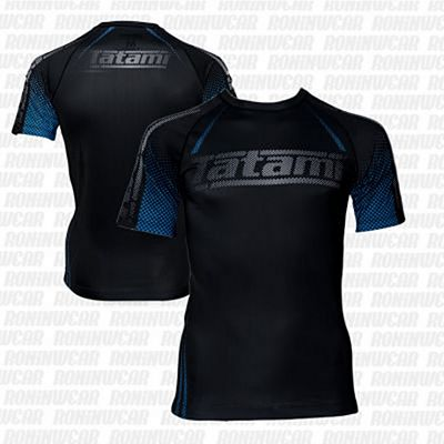 Tatami New IBJJF Rank Short Sleeve Rashguard Fekete-Kék