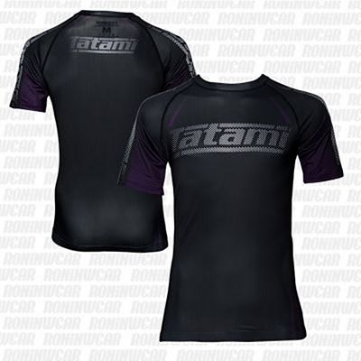 Tatami New IBJJF Rank Short Sleeve Rashguard Preto-Roxo