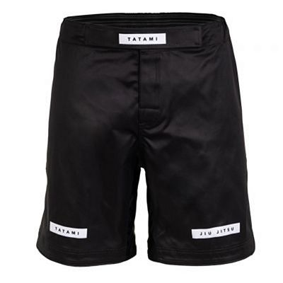 Tatami Rival Solid Black Grappling Shorts Musta