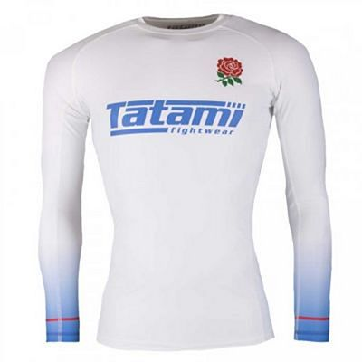 Tatami Six Nations Rash Guard England Branco