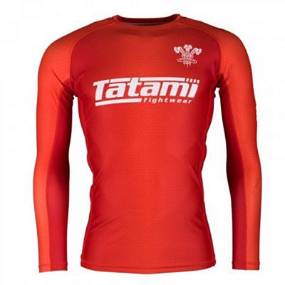 Tatami Six Nations Rash Guard Wales Piros