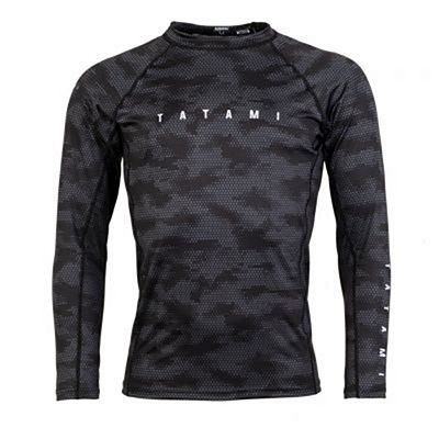 Tatami Standard Edition Black Digital Camo LS Rash Guard Musta-Camo
