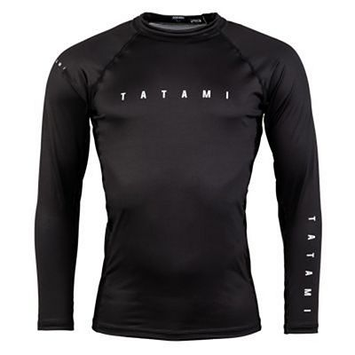 Tatami Standard Edition Solid Black LS Rash Guard Musta
