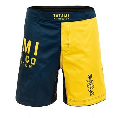 Tatami Supply Co Navy Grappling Shorts Navy Blue-Yellow