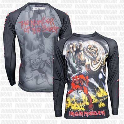 Tatami X Iron Maiden Number Of The Beast Rash Guard Preto