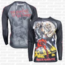Tatami X Iron Maiden Number Of The Beast Rash Guard Schwarz