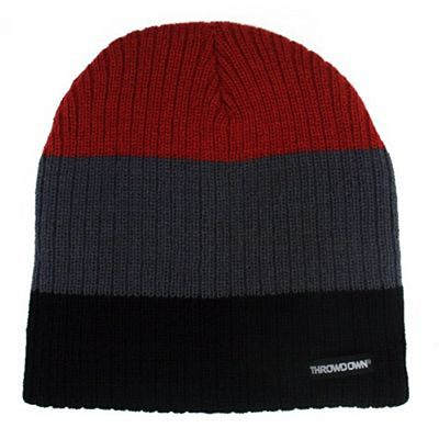 Throwdown Down Beanie Nero-Grigio