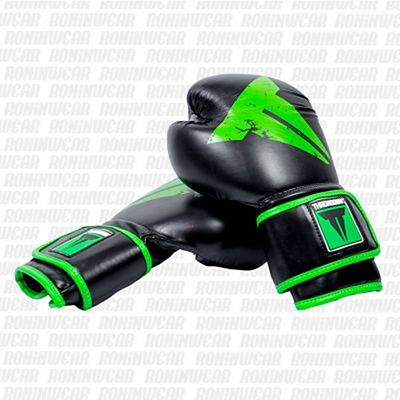 Throwdown Boxing Gloves Fighter Nero-Verde