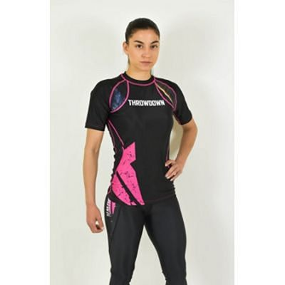 Throwdown Combat Training Rashguard SS Black-Pink