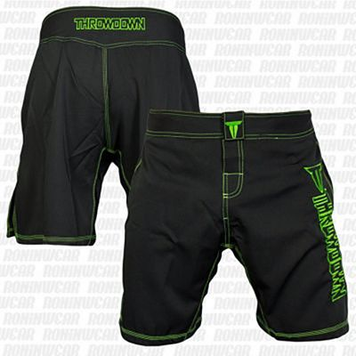 Throwdown Competition 2.0 Fightshorts Nero-Verde