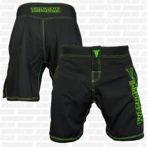 Throwdown Competition 2.0 Fightshorts Negro-Verde