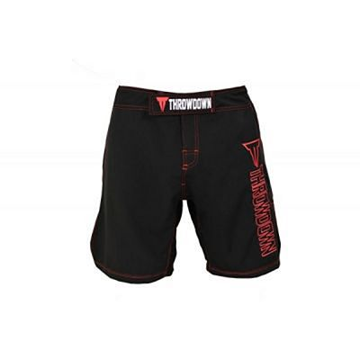 Throwdown Competition MMA Shorts 2.0 Nero-Rosso