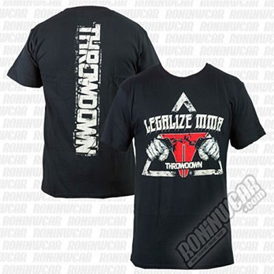 Throwdown Legalize MMA Shirt Nero
