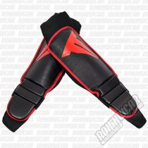 Throwdown MMA Grappling Instep Shin Guard Preto-Vermelho