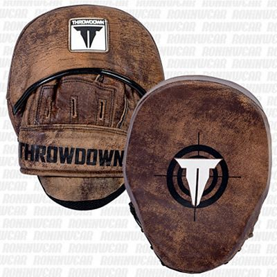 Throwdown Vintage Perfect Punch Mitts 2.0 Marrone