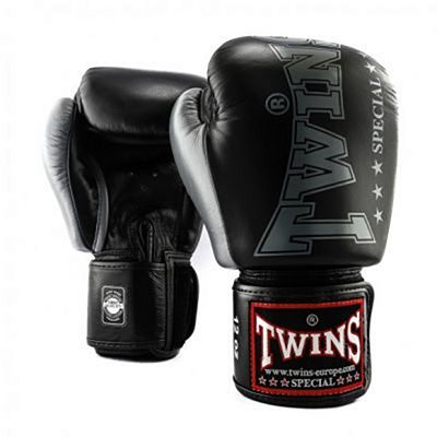 Twins Special BGVL 8 Boxing Gloves Black-Silver