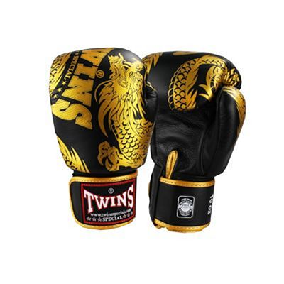Twins Special Dragon Boxing Gloves Negro-Oro