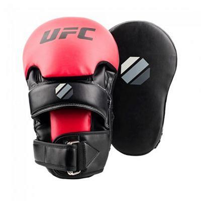 UFC Contender Long Curved Focus Handpads Schwarz-Rot