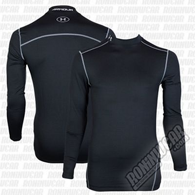 Under Armour ColdGear Armour Compression Mock Fekete