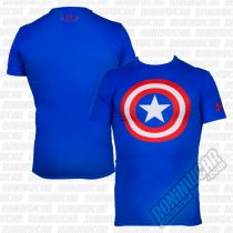 Under Armour Compression Captain America Alter Ego Blau