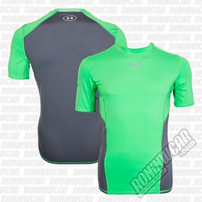 Under Armour CoolSwitch S/S Compression Shirt Verde-Cinza