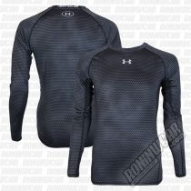 Under Armour HeatGear Armour Printed L/S Compression Shirt Black