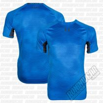 Under Armour HeatGear Armour Printed S/S Compression Shirt Blau