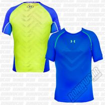 Under Armour HeatGear ArmourVent Compression T-shirt Blau