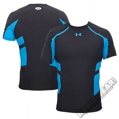 Under Armour Stretch HeatGear S/S Preto-Azul