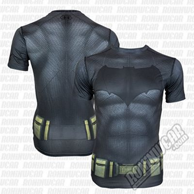 Under Armour Transform Yourself Batman Compression Shirt Fekete