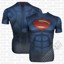 Under Armour Transform Yourself Superman Compression Shirt Navy