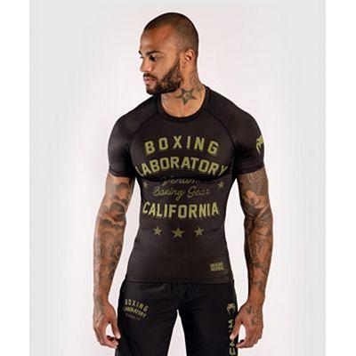 Venum Boxing Lab Rashguard SS Black-Green