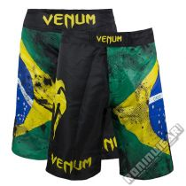 Venum Brazilian Flag Fight Shorts Negro