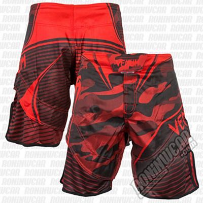 Venum Camo Hero Fightshorts Red-Black
