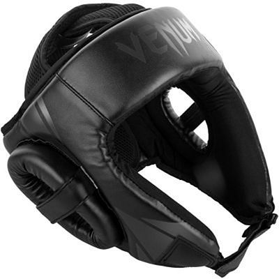 Venum Challenger Open Face Headgear Black-Black