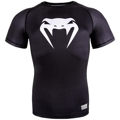 Venum Contender 3.0 Compression T-shirt S/S Black-White