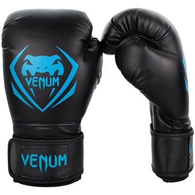 Venum Contender Boxing Gloves Preto-Azul